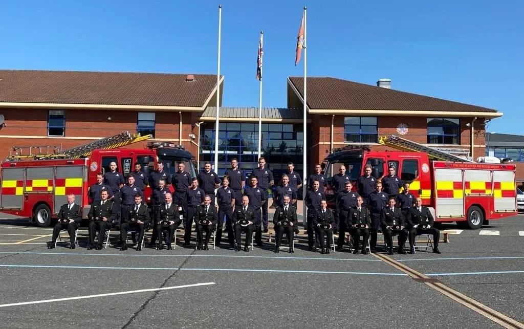 New Fire Service recruits