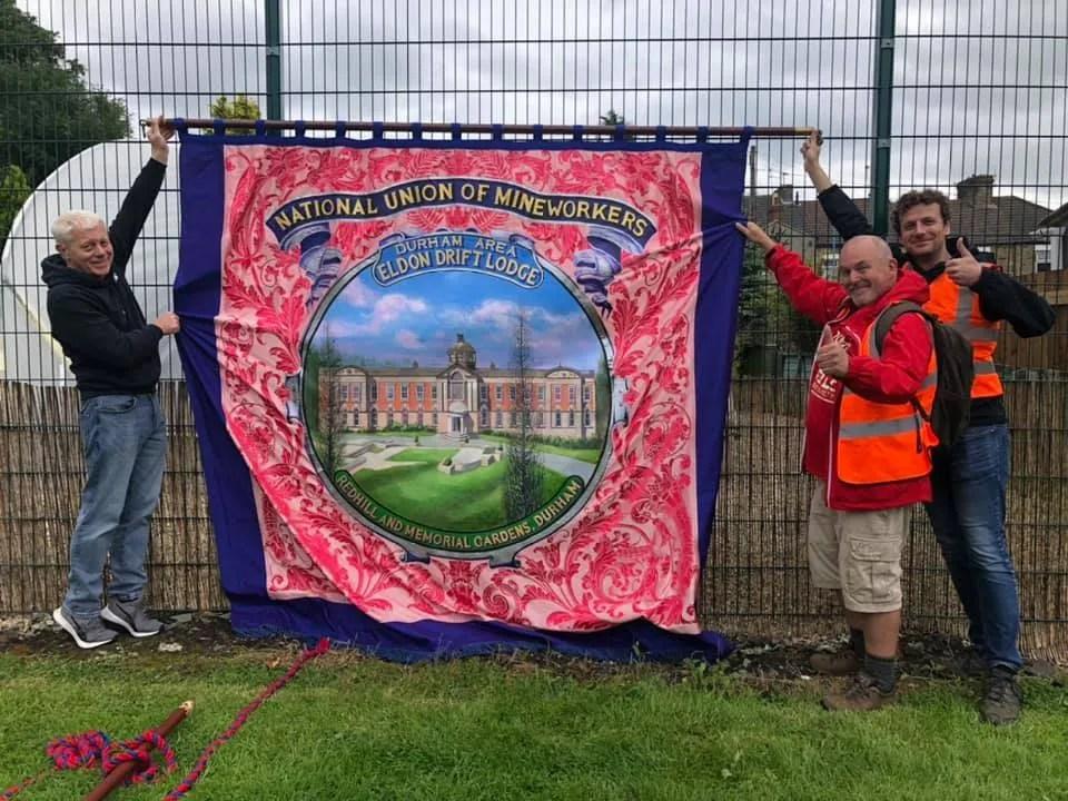 Durham Miners Gala banner
