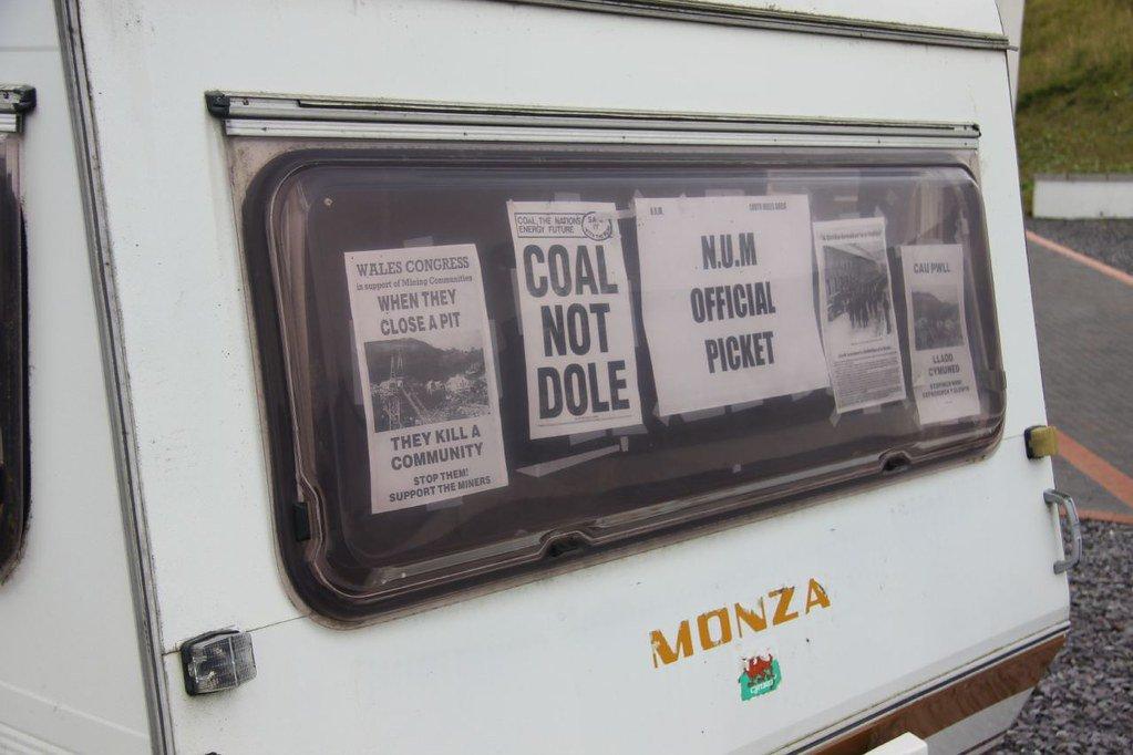 Official picket caravan in the miners' strike