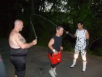 "Jumping rope w/ Dean ""The Beast"" and Brandon Webb (2009)"
