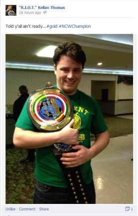 Picking up the victory over Scotty Vegas at WrestleFest IX to win his first NCW title!