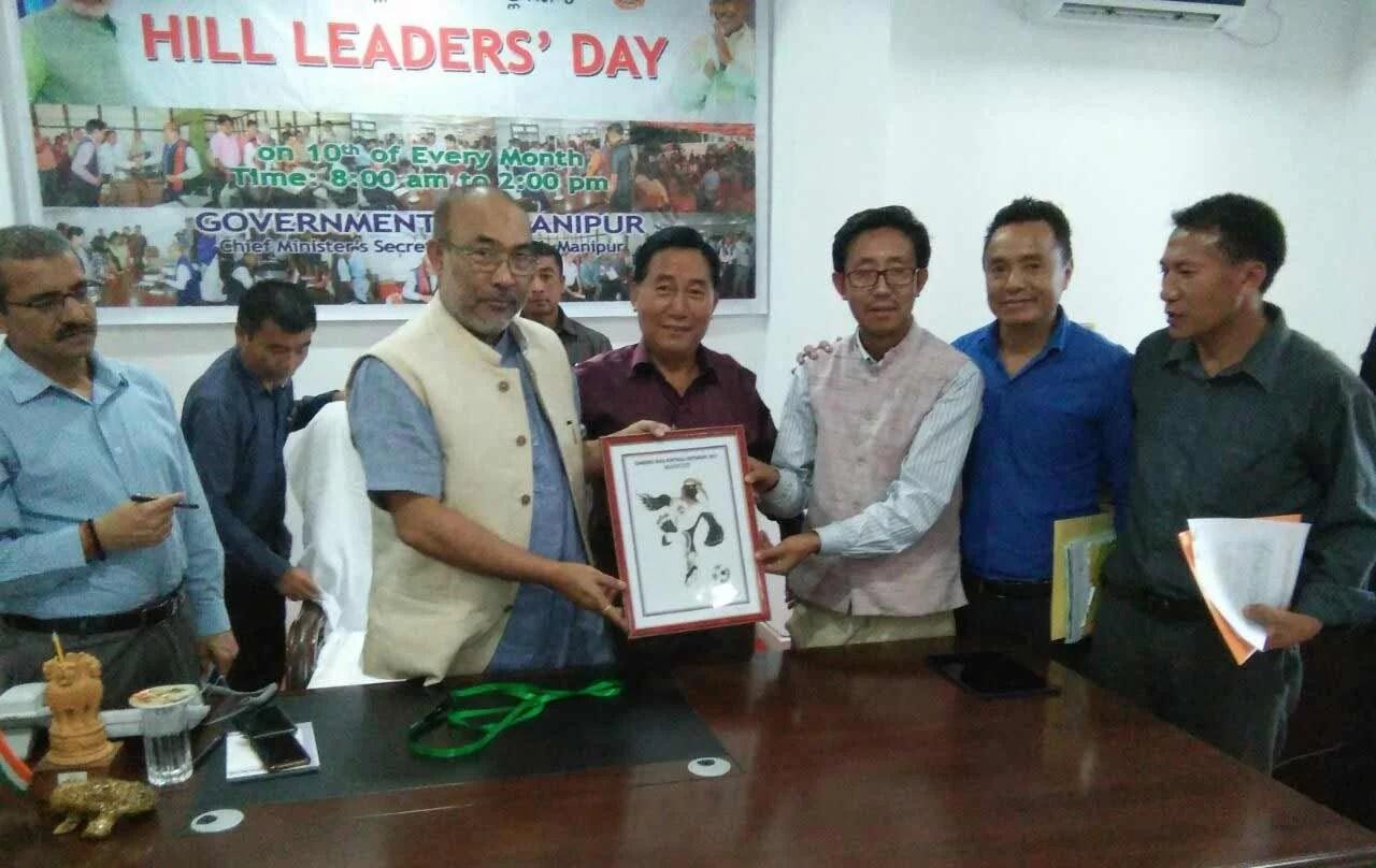 Manipur CMN Biren Singhlaunches official mascot of Tangkhul Naga Football Centenary (TNFC)