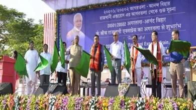 Rajen Gohain Flags off Agartala – New Delhi Rajdhani Express