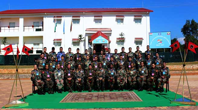 India-Myanmar Bilateral Army Exercise begins at Umroi