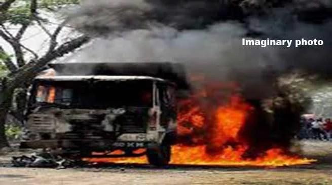Militants open fire, burn vehicles in a coal mining compnay's workshop