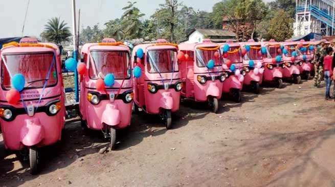 Assam: Pink auto rickshaws driven by women for women