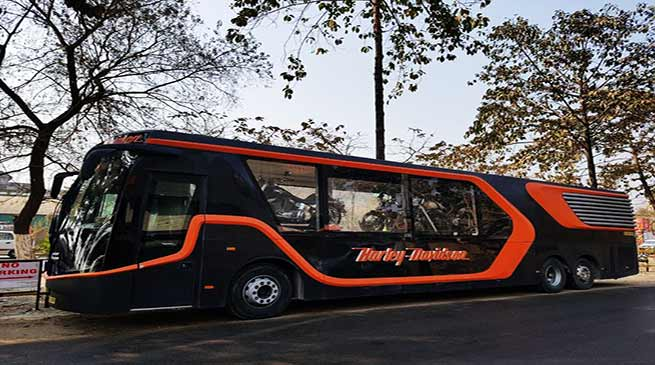Assam: Harley Davidson Tour Bus touring the state