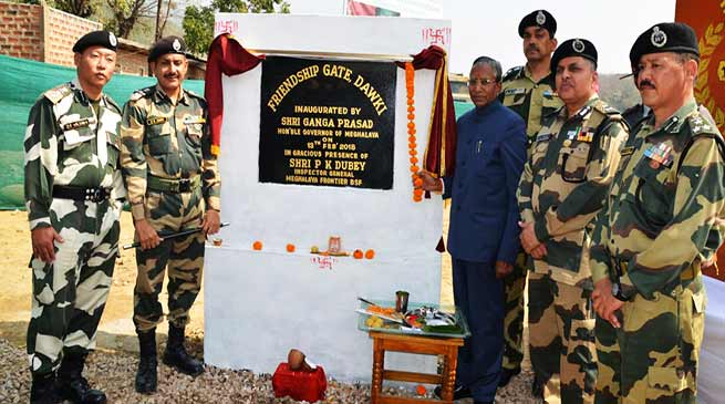 Meghalaya Governor inaugurates integrated check post gate at Dawki