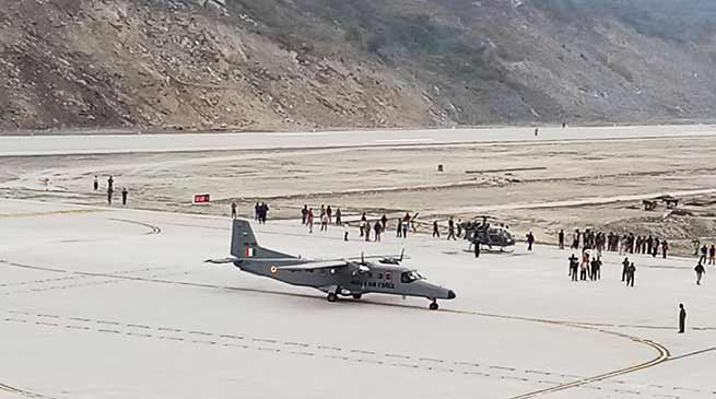 Sikkim : First Aircraft lands at Pakyong Airport