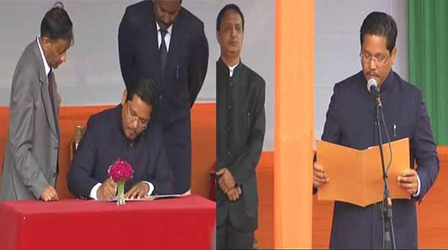 Meghalaya: Conrad Sangma of NPP sworn in as new CM