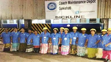 Assam: First time in Indian Railway,  women gang for maintenance of coaches