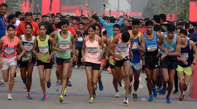 Guwahati : Thousand participates in International Run for Clean India