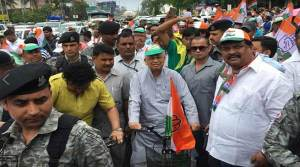 "Assam: APCC holds bicycle rally as a part of ""Betrayal Day"""
