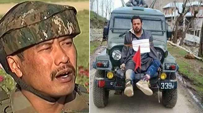 Kashmir: Police detained Major Leetul Gogoi with a girl from Srinagar Hotel