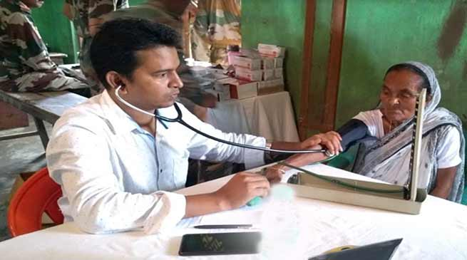 Assam Rifles organised medical camp in flood-hit Hailakandi