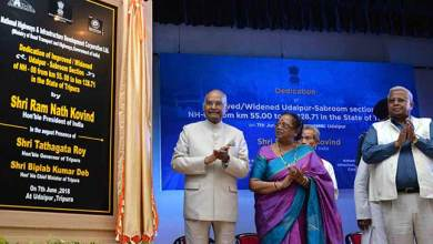 Tripura: President Kovind inaugurates NH from Matabari to Sabroom