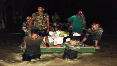 Assam: Flood relief operation by the Army in Sibsagar