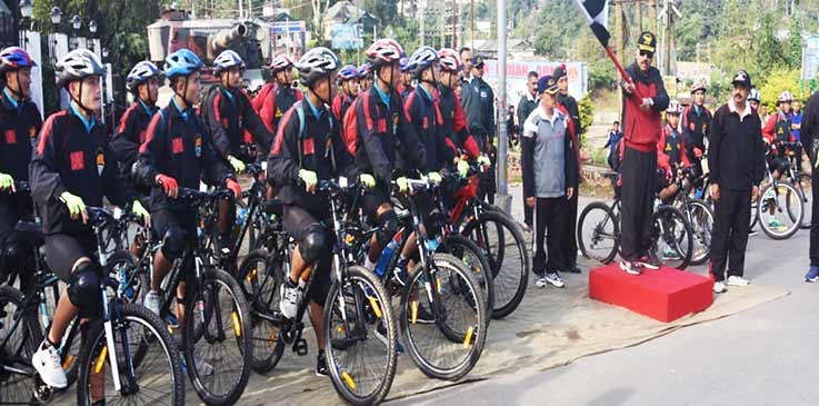 Meghalaya: Cycle Rally as a part of Army Adventure