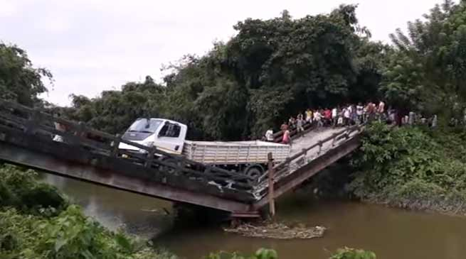 West Bengal- Another bridge collapsed in Siliguri