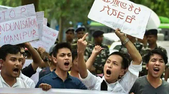 Manipur: Police search in Manipur university campus, 89 students held