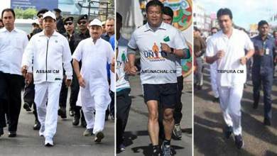 Photo of Chief ministers of NE States take part in 'Run for Unity'