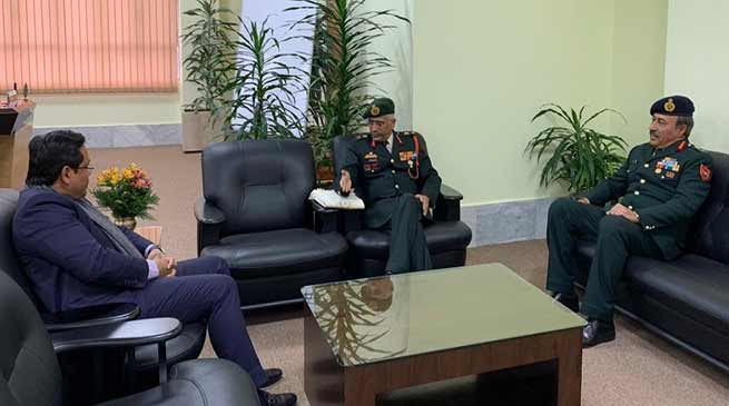Meghalaya: Eastern Army Commander meets Governor and CM