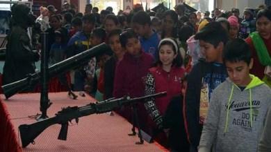 Meghalaya: Military equipment and band display at Shillong