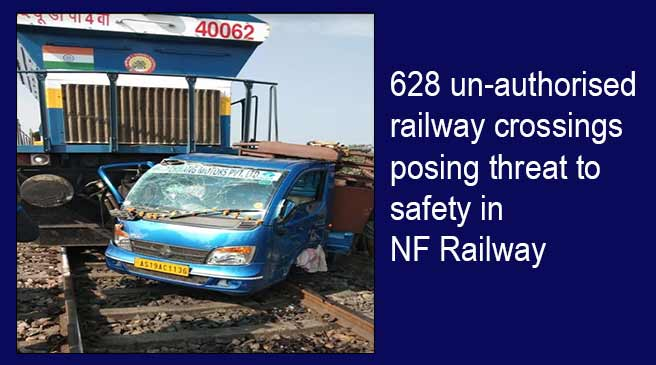 Assam:628 un-authorised railway crossings posing threat to safety in NF Railway