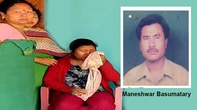Assam Chief MinisterSarbanandaSonowalannounced Rs 20 lakh to the family of Maneswar Basumatary, a CRPF soldier from the state