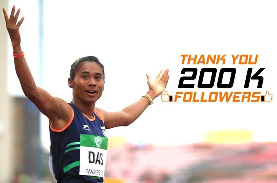 Assam: Hima Das crosses 200K followers on Twitter