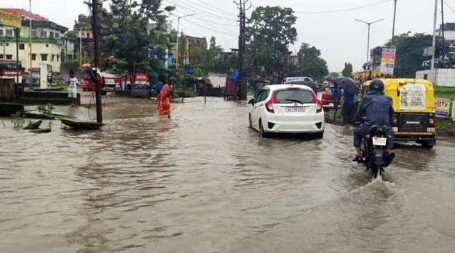 Assam: Rivers in spate in Hailakandi district