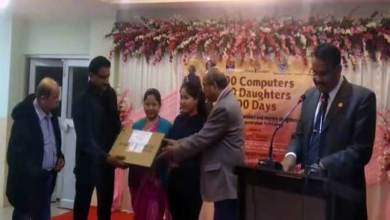 Assam: Daughters of Veer Naris presented with Laptop