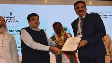 Assam: Entrepreneur Basant Khetan receives the National MSME Award