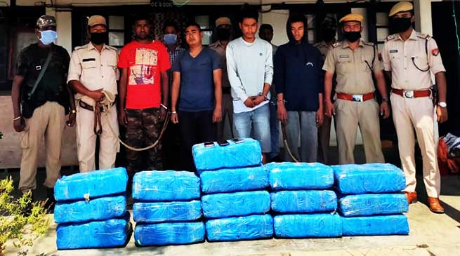 Assam: Four arrested with 150 kg Cannabis in Lakhipur