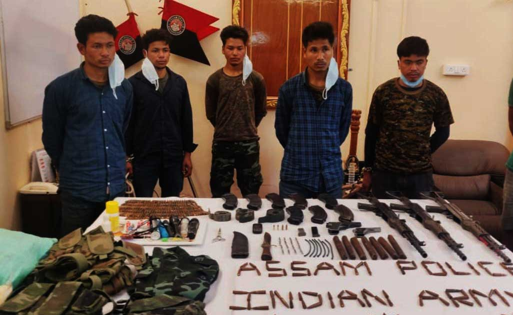 Assam police apprehended 5 ULFA Cadres in Charaideo