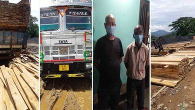Photo of Assam: Timber-laden truck seized in Byrnihat, 2 persons apprehended