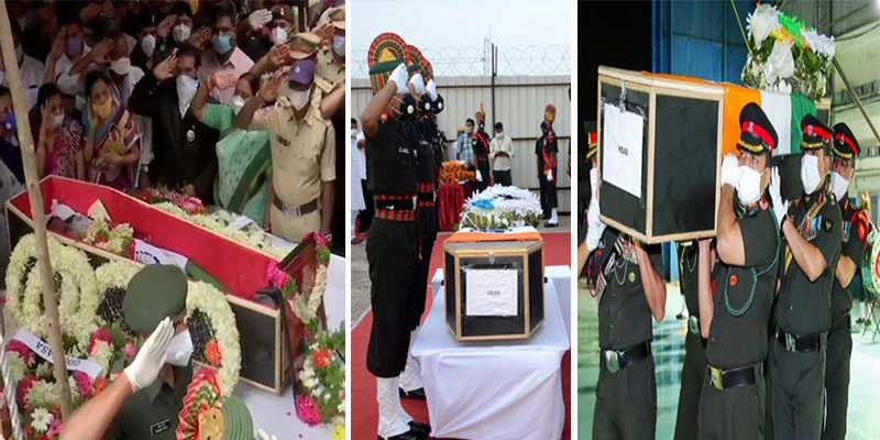Ladakh Clash: 5 of 20 soldiers who died in Ladakh laid to rest
