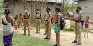 Assam: NCC Girls cadets educating villagers about AROGYA SETU