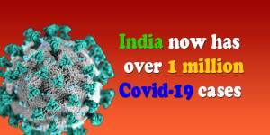 Coronavirus: India now has over 1 million Covid-19 cases