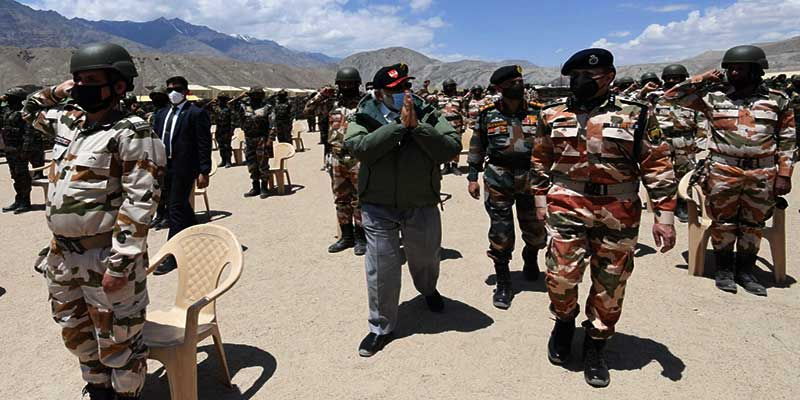PM Modi visits Nimu in Ladakh, interact with personnel of Army, Air Force and ITBP
