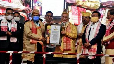 Assam CM presents Siu-Ka-Pha award to noted writer Yeshe Dorjee Thongchi