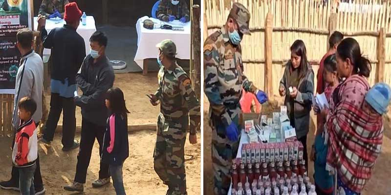 Manipur: Assam Rifles organised Child Care Camp at Phoklong Khullen village in Tamenglong