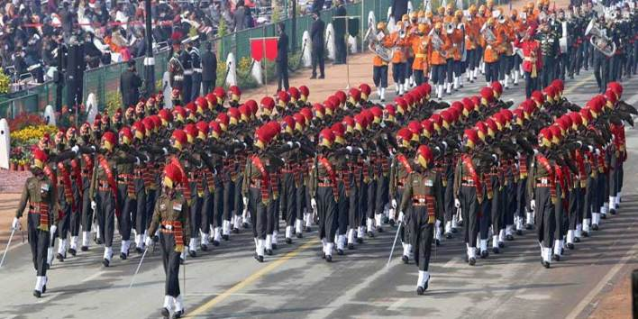 Jat Regimental Centre Marching Contingent has been adjudged as the best marching contingent among the three services during the R-Day Parade at the majestic Rajghat