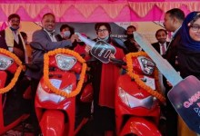 Assam: Scooty to girl students distributed in Hailakandi