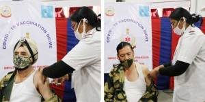 Meghalaya- BSF at Umpling begins second phase of COVID-19 vaccination