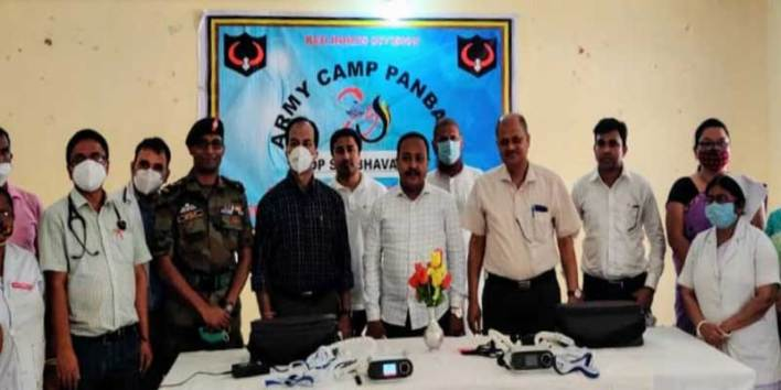 Assam: Army distributed medical equipment in Rangia and Dhubri