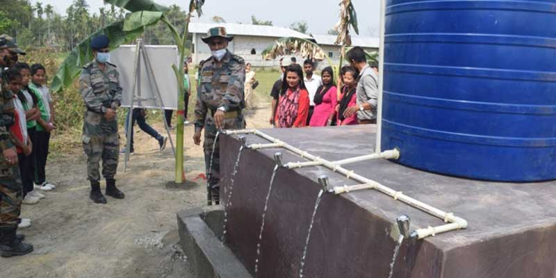 Assam: Army Provide Drinking Water Projects  to Villagers in Udalguri