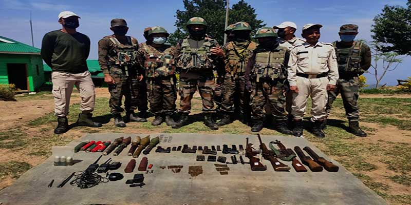 Manipur: security forces seize large number of arms and warlike stores along the Indo-Myanmar