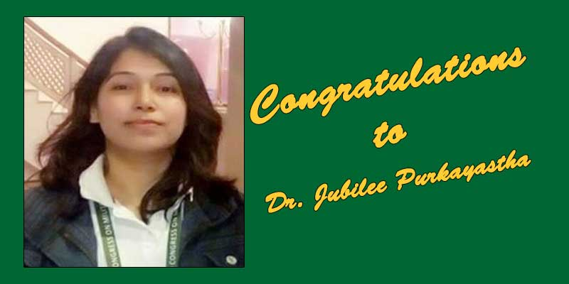 Assam Chief Minister congratulated Dr. Jubilee Purkayastha, a scientist with the Institute of Nuclear Medicine and Allied Sciences for her outstanding contributions in the development of anti-COVID drugs.