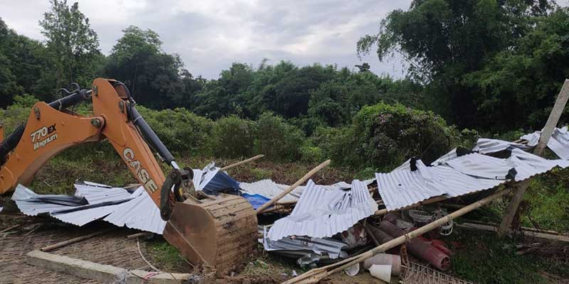 Assam:Eviction from forest land carried out in Borduar Reserve Forest